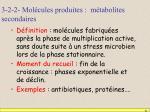 3 2 2 mol cules produites m tabolites secondaires