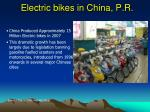 electric bikes in china p r