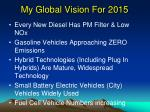my global vision for 2015