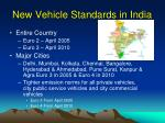 new vehicle standards in india