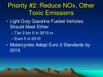 priority 2 reduce nox other toxic emissions