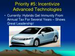 priority 5 incentivize advanced technologies