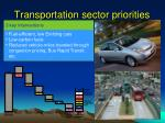 transportation sector priorities