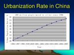 urbanization rate in china