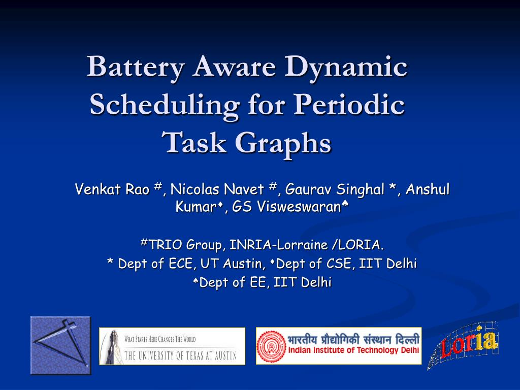 battery aware dynamic scheduling for periodic task graphs l.