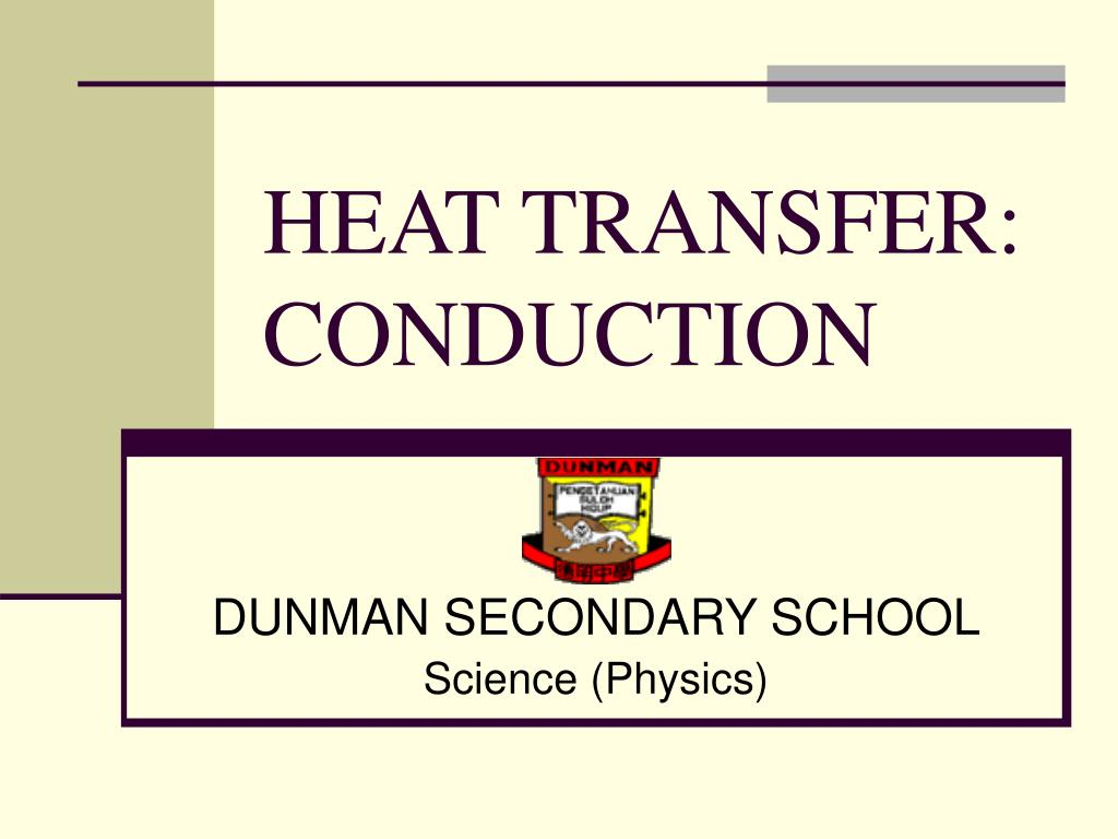 heat transfer conduction l.