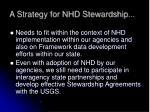 a strategy for nhd stewardship