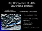 key components of nhd stewardship strategy