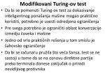 modifikovani turing ov test