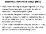 sistemi zasnovani na znanju kbs23