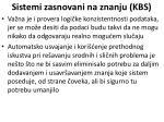 sistemi zasnovani na znanju kbs24