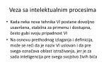 veza sa intelektualnim procesima32