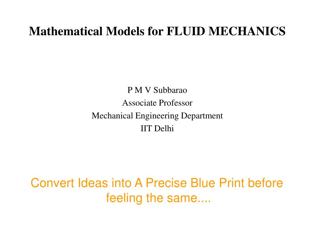 mathematical models for fluid mechanics l.