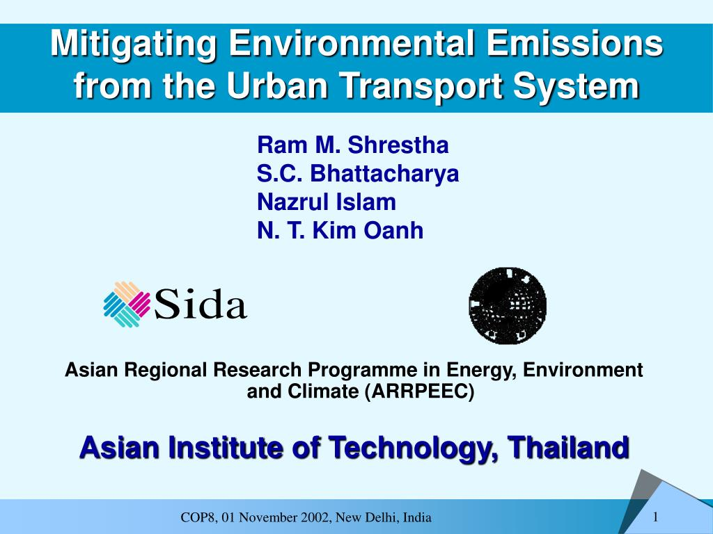 mitigating environmental emissions from the urban transport system l.