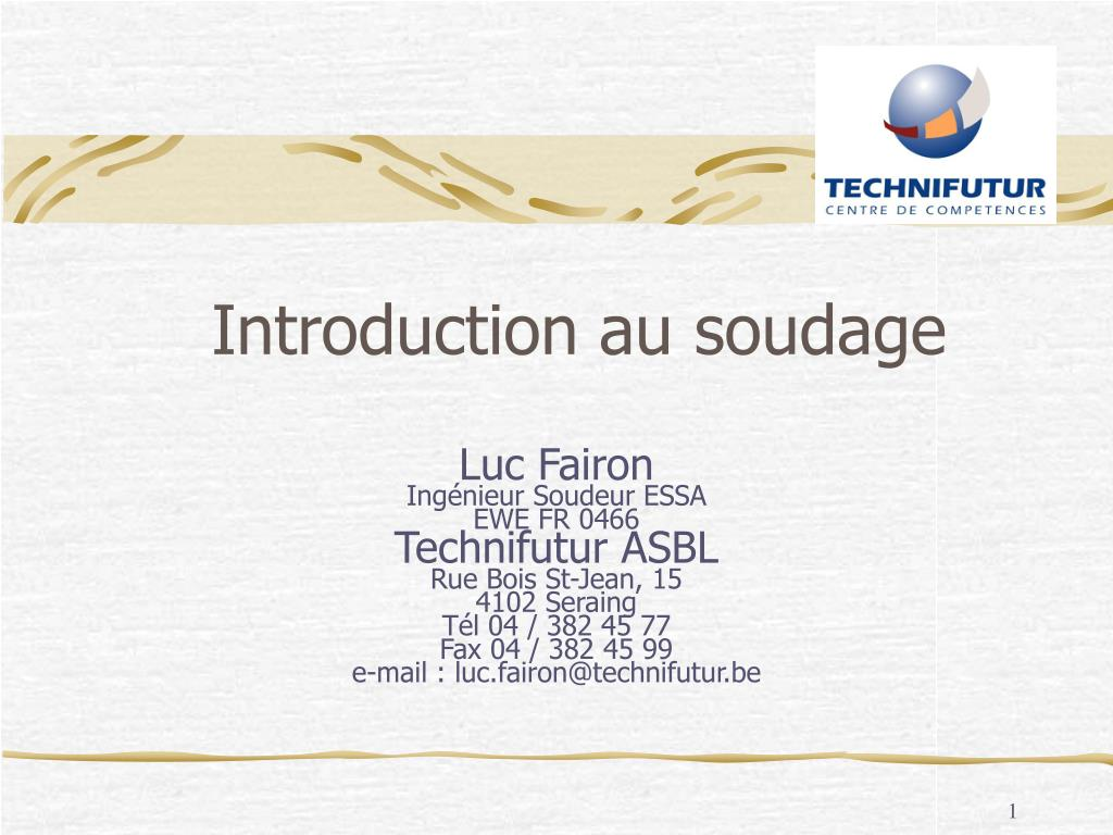 introduction au soudage l.