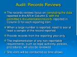 audit records reviews