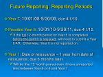 future reporting reporting periods