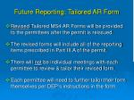 future reporting tailored ar form