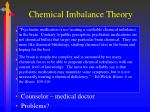 chemical imbalance theory