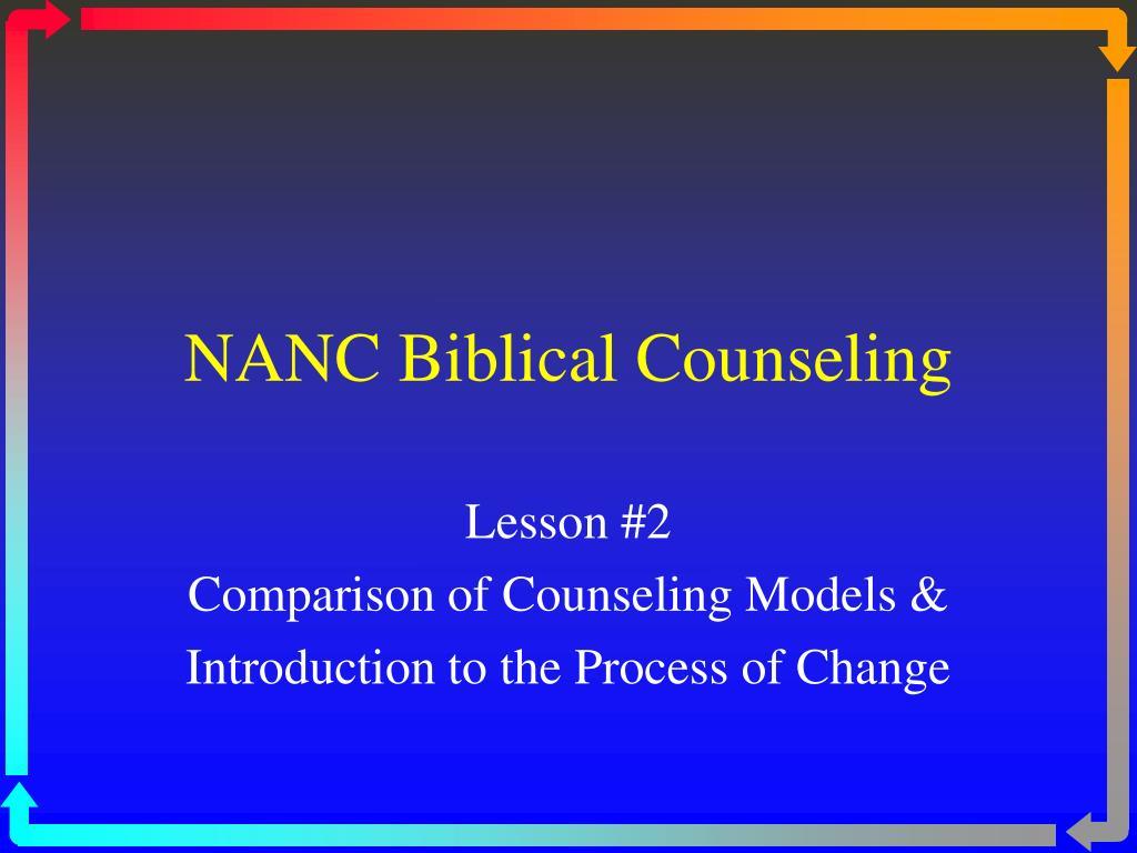 nanc biblical counseling l.