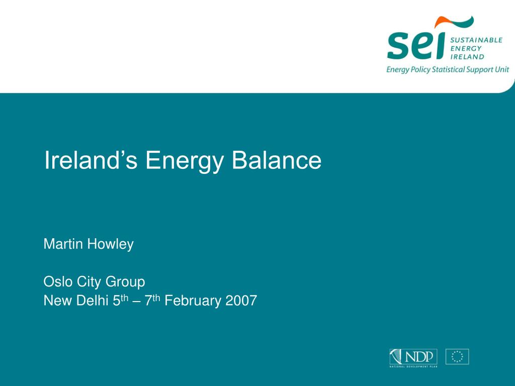 ireland s energy balance l.