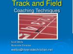 track and field coaching techniques