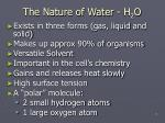 the nature of water h 2 o