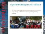 capacity building of local officials