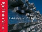 sustainability at rta b a