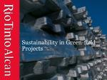 sustainability in green field projects