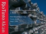 sustainability investments as a risk mitigation strategy