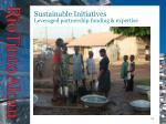 sustainable initiatives leveraged partnership funding expertise