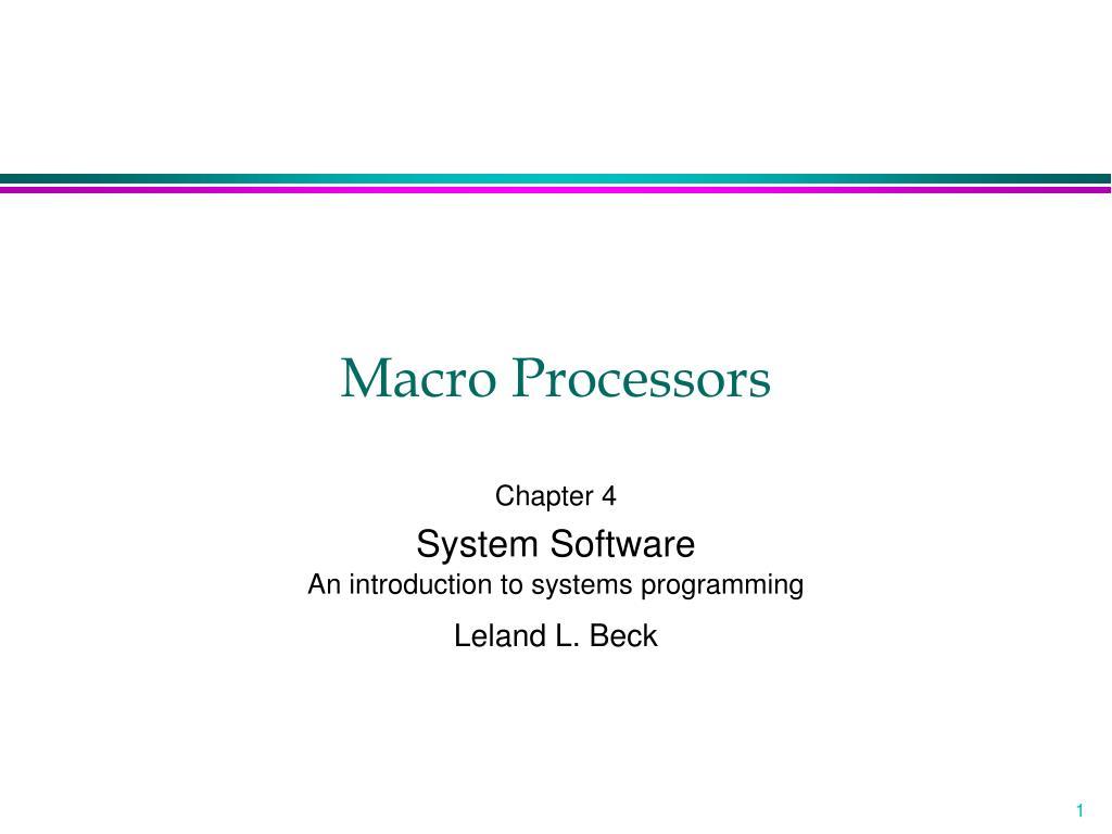 macro processors l.