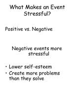 what makes an event stressful