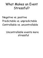 what makes an event stressful11