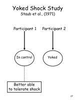 yoked shock study staub et al 1971
