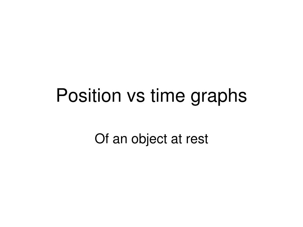 position vs time graphs l.