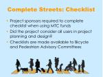 complete streets checklist