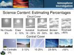 science content estimating percentages