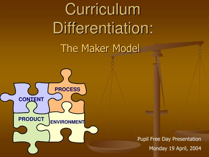 curriculum differentiation n.
