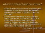 what is a differentiated curriculum