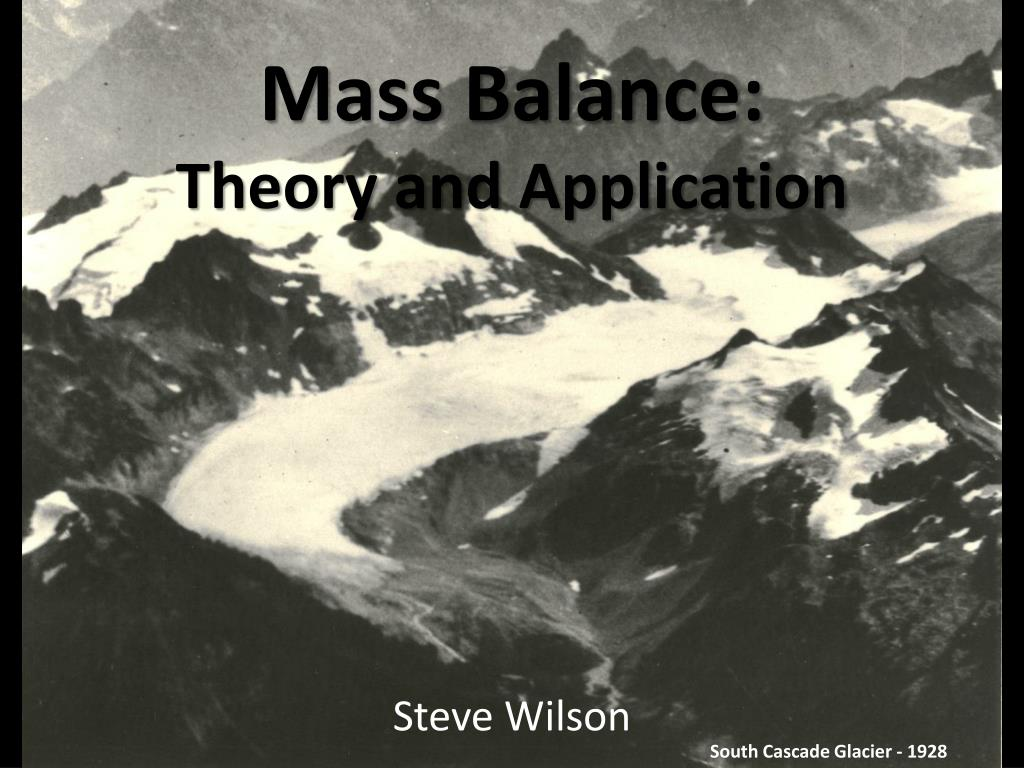 mass balance theory and application l.