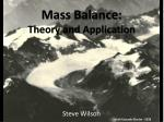 mass balance theory and application