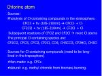 chlorine atom