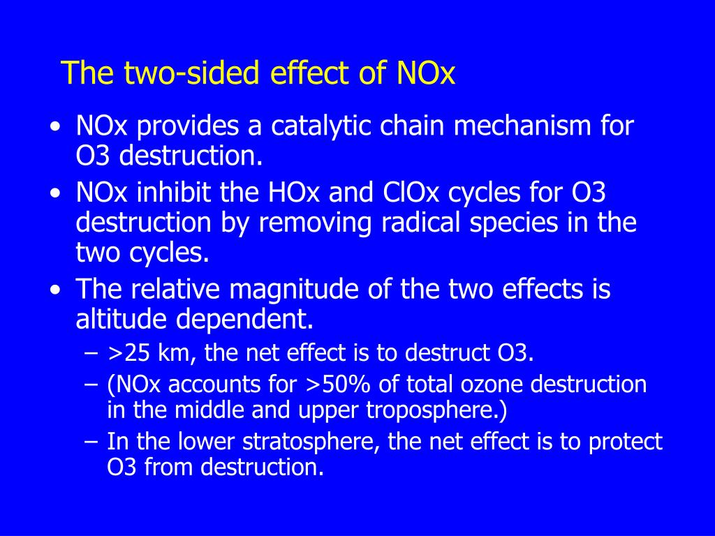The two-sided effect of NOx