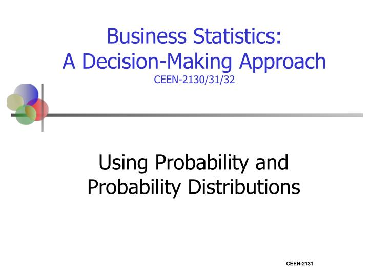 Using probability and probability distributions