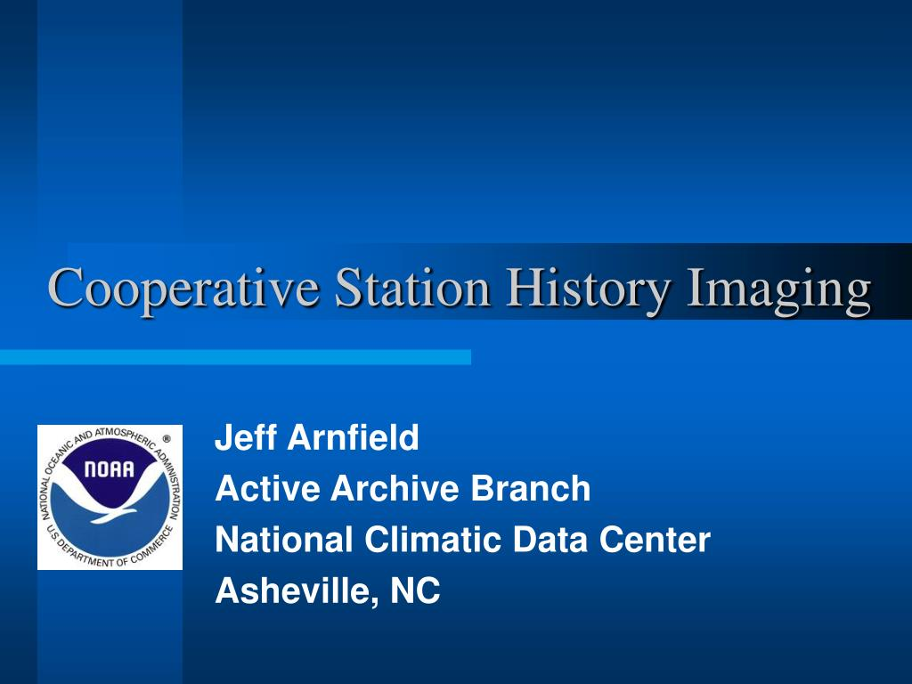 Cooperative Station History Imaging