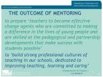 the outcome of mentoring