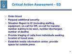 critical action assessment ed56
