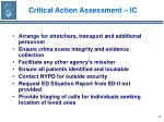 critical action assessment ic53